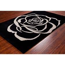 Black And White Rug Overstock Allie Handmade White Rose Wool Rug 5 U0027 X 7 U00276 Free Shipping