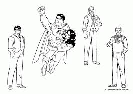 easier superman coloring pages featuring supergirl captain
