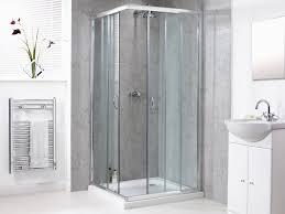 shine corner entry shower enclosure 800mm polished silver