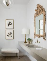 In The Powder Room The Cement Sink In The Powder Room Adds A Little Contemporary Edge