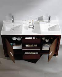 Wenge Bathroom Mirror Fresca Allier 60 Wenge Brown Modern Sink Bathroom Vanity W