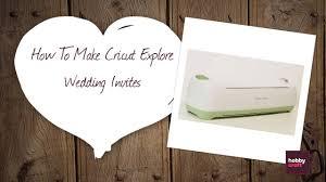 diy wedding invites with the cricut explore hobbycraft youtube