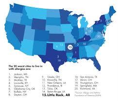 Pollen Map Pollen Puts Little Rock On Appalling Allergy List Fit Arkansas