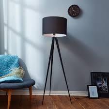 Tripod Floor Lamp Romanza Matte Black Tripod Floor Lamp With Black Shade 60 23