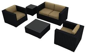 Outdoor Sofa Sets by Urbana 4 Piece Patio Sofa Set Contemporary Outdoor Lounge Sets