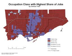 Census Tract Maps All Over The Map The Geography Of Service Work In Toronto