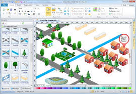 easy street map drawing software make map directions more easily