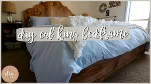 diy bedroom furniture california king bedframe youtube