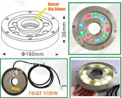 led fountain lights underwater ip68 9w rgb led fountain light ring jp 94193