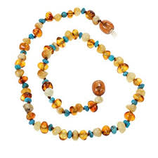 baby bead necklace images Genuine amber teething necklace for baby butterscotch jpg