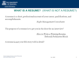 Job Qualifications Resume by What Is A Resume What Is Not A Resume Ppt Download