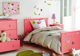 Little Girls Bedroom Curtains Bedroom Simple Bedroom With Pink Wall Color And Polka Dots