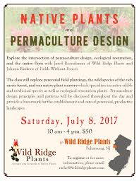 new jersey native plants upcoming events native plants u0026 permaculture design wild ridge
