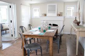 Beachy Dining Room by Beige Walls White Trim Dining Room Beach Style With Rectangular