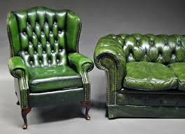 Green Chesterfield Armchair Green Leather Chesterfield Sofa For Cool Attractive Green Leather
