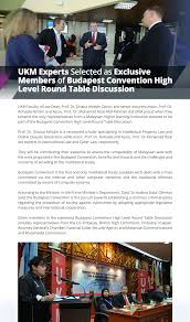 members of the round table ukm expert selected as exclusive members of budapest convention high