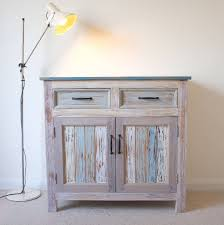 beach hut style cupboard reclaimed wood by cambrewood