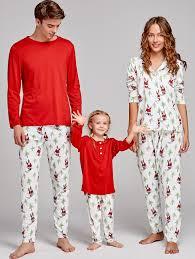 pajamas xl santa claus printed family pajama gamiss