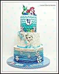 Frozen And Mermaid Theme Cake Cake By Custom Cakes By Manisha