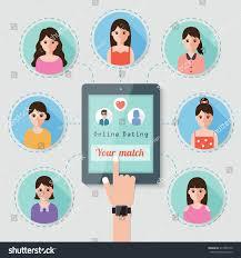 Seeking Characters Seeking On Dating Stock Vector 314785772