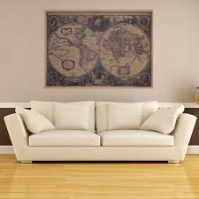 online buy wholesale vintage pattern wall stickers from china large vintage world map poster wall sticker decal vinyl retro paper map national geographic map of