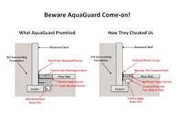 basement waterproofing aquaguard botches french drain basement