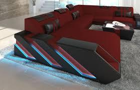 sofa mit led beleuchtung sofa wohnlandschaft berlin mit stoffbezug luxus polstersofa