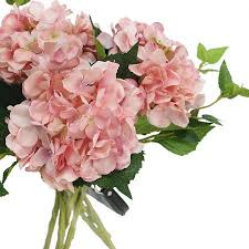 silk hydrangea silk hydrangea stem in light pink 18 g home collection