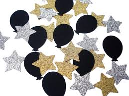 Gold And Silver New Years Decorations by 50 Graduation Confetti Stars And Balloons New Years Party