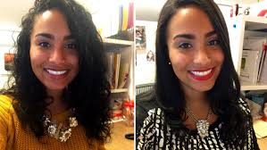 same haircut straight and curly curlpower women switch from curly to straight hairstyles to test