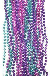 mardi gras bead bags metallic purple hot pink and turquoise mardi gras