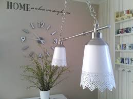 Ikea Light Fixtures by Ikea Hackers Kroby Into Skurar Pendant Double Lamp Ikea Hacks