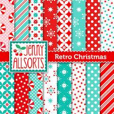 vintage christmas paper retro vintage christmas digital scrapbook paper aqua mint