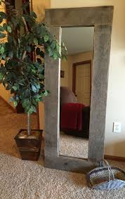 Wilco Home Decor Rustic Wood Full Length Mirror Repurposed Pallet Wood Large