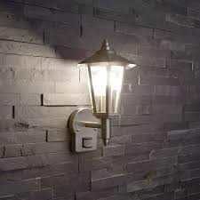 Outdoor Wall Sconce With Motion Sensor Biard Cannes Stainless Steel Outdoor Wall Lantern With Pir Motion