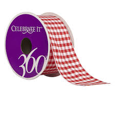 gingham ribbon 1 5 wired gingham ribbon by celebrate it 360
