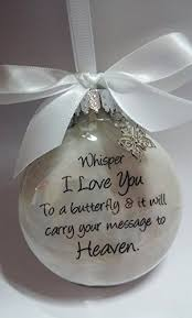 christmas ornament favors sympathy gift whisper to a butterfly w charm in