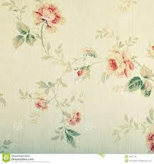 vintage victorian wallpaper with floral pattern stock photo
