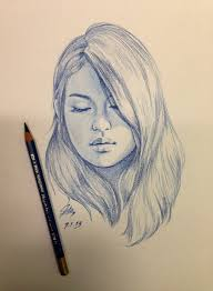 realistic face sketch side view sketches of beautiful faces