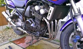 fitting motad venom stainless steel downpipes u0026 exhaust to fazer