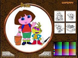 dora en ligne jeu de coloriage dora explorer coloring game for