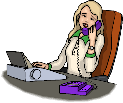 image de secretaire au bureau bureau patron secretaire