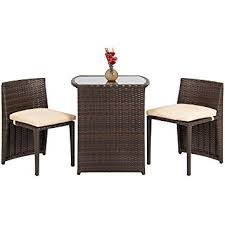 amazon com best choice products outdoor patio furniture wicker 3pc