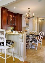 eat in kitchen design compact amber wooden inexpensive cabinets
