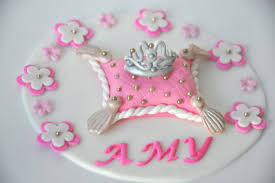edible princess cake topper with fondant tiara princess and prince