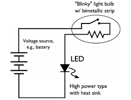 How To Make Led Lights Easy High Power Led Blinking Circuit Evil Mad Scientist Laboratories