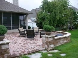 brick patio wall designs landscape design 3d walkthrough front