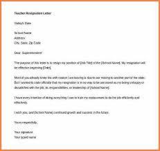 7 letters of resignation for teachers resign letter job
