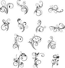 floral and swirls ornaments free vector in encapsulated postscript