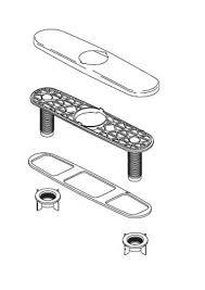 delta allora kitchen faucet delta rp47274 allora optional 10 escutcheon plate kit chrome